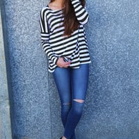 Olive + Ivory Striped Piko