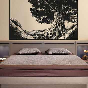 Vinyl Wall Decal Sticker Tree Portrait #OS_AA1333