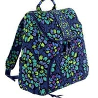 Vera Bradley Double Zip Backpack (Indigo Pop)