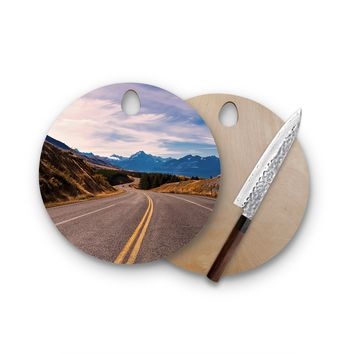 Endless Drive Round Cutting Board Trendy Unique Home Decor Cheese Board