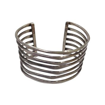 Pre-owned Taxco Mexico Sterling Silver Modernist Bracelet