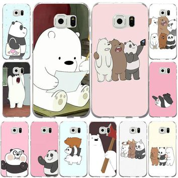 Cute Panda We Bare Bear Animal Style Soft TPU Mobile Phone Cases Cover for Samsung Galaxy S2 S3 S4 S5 S6 S7 S8 S9 mini edge Plus