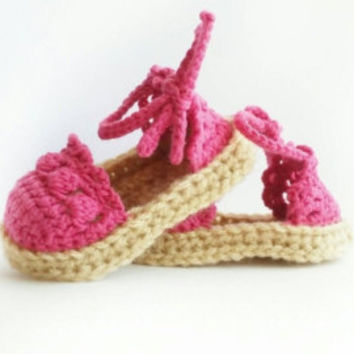 Crochet Baby Sandals, Baby Moccasin Sandals, Baby Shoes, Newborn Moccasin Shoes, Beach Shoes, Summer Sandals, Crochet Slippers, CIJ