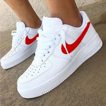 Nike Air Force 1 Classic Fashion New White Low Couple Running Le.