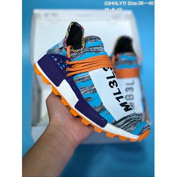 HCXX A361 Adidas Human Race NMD Fashion Casual Sports Running Shoes Blue Orange