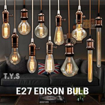 Edison Light Bulb: E27 220V Vintage Lighting Bulbs