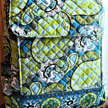 Tinsley Blake Collection Lime Turquoise Paisley Backpack Bookbag