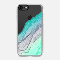 FLAWLESS SEAFOAM FAUX GLITTER by Monika Strigel iPhone 7 Hülle by Monika Strigel | Casetify