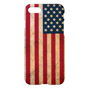 Vintage American Flag iPhone 7 Case