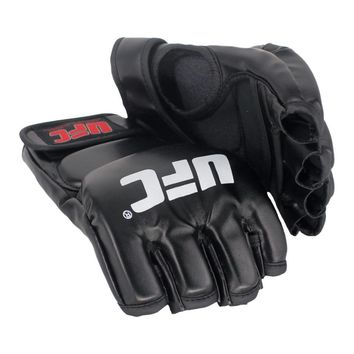 SUOTF Black Ferocious Fighting Boxing Sports Leather Gloves Tiger Muay Thai fight glove box mma gloves boxing sanda boxing pads
