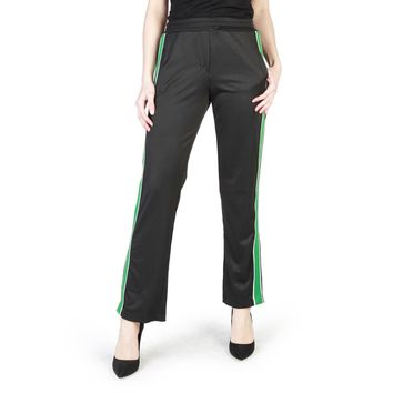 Miss Black Elastic Waistband Split Pant