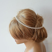 Lace Pearl Wedding Headband, Lace Bridal  Headband, Lace Pearl Weddings Hair, Bridal Hair Accessories