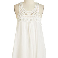 Mid-length Sleeveless Fair is Flair Top by ModCloth