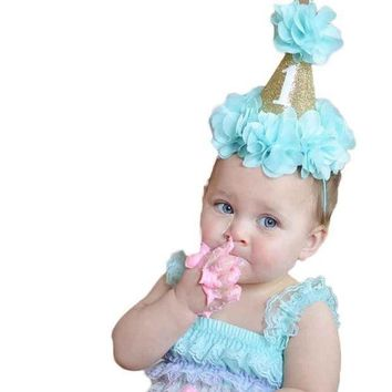 ESB78W Newborn Mini Felt Glitter Crown Flower Headband For  Girls  Party DIY Garments Hair Accessories #LSIN