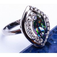 Very Powerful spells bound by three covens to this ring. Rainbow topaz in sterling.