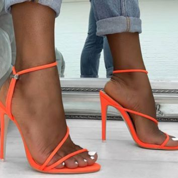 Hot style hot selling sexy high heel side empty sandals