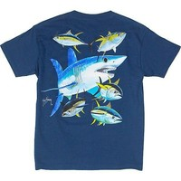 Guy Harvey Front Screen Mako Shark T-Shirt