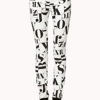 Standout Letter Skinny Jeans