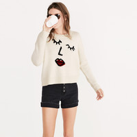 Making Faces Pullover Sweater