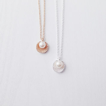 Pearl & Shell Necklace | Gold or Silver Shell Necklace | Boho Jewelry | Nautical | Jewellery | Gift | BFF | Best Friends | SALE