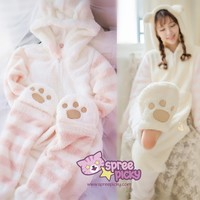 Kwaii Cat Paw Homewear Pajamas SP168301