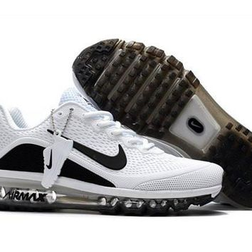 Nike Air Max 2017. 5 KPU White & Black Men's Running Shoes Sneakers