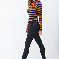 FOREVER 21 Low Rise- Ankle Skinny Jeans Indigo