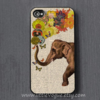 Elephant iPhone Case, iphone cover, iPhone 4 case, iPhone 4s case, iPhone 5 case, iPod touch 4 case, ipod touch 5 case