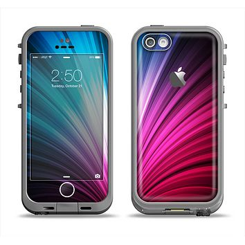 The Swirly HD Pink & Blue Lines Apple iPhone 5c LifeProof Fre Case Skin Set