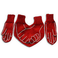Funny Dual  Gloves for HIM and HER Valentines day present