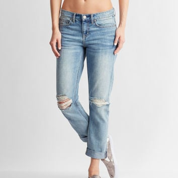 Destroyed Medium Wash Boyfriend Jean