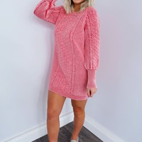 Cooler Days Dress: Dusty Red