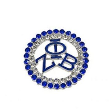 Zeta Phi Beta Crystal brooch