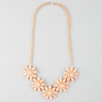FULL TILT 5 Flower Statement Necklace | Necklaces | Pastel | Pink | SUPER CUTE