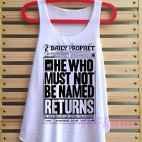 Daily prophet shirt Harry potter shirt tank top Harry Potter clothing tshirt loose fit vest tee tunic - size S M L