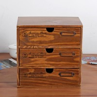 Home Decor Home Vintage Weathered Storage Multi-functioned Cosmetic Drawer [6282703558]