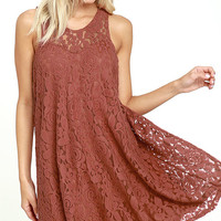 Others Follow Total Flirt Marsala Shift Dress