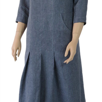 Linen French Street Dress