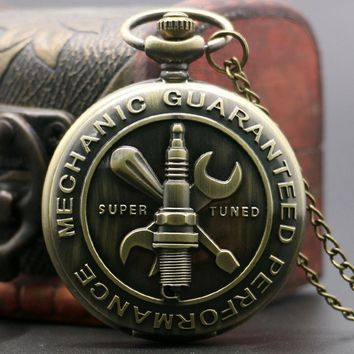 Bronze Mechanic Pocket Watch