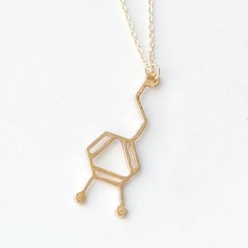 30PCS- Fashion Charateristic Dopamine Molecule Necklace Hormone Serotonin Necklace DNA Chemistry Element Necklaces
