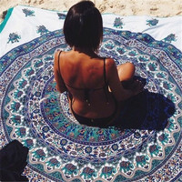 MyNeLo New Arrival Summer  Hot Sale!  Bohemian Mandala Beach Towel Chiffon Round Beach Tapestry Hippie Beach Towel Shawl Yoga Mat Towel Indian Toalla Playa Home Decor