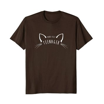Purr-fect Teenager Shirt- Funny Cute Cat Lover Gift