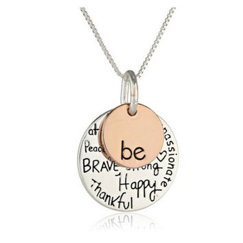Fashion Lettering Pendant Necklace [7278804679]