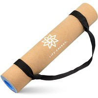 EkoSmart Cork Yoga Mat with Yoga Strap, 5mm