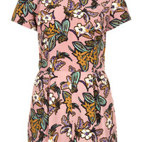 Floral Print Collar Playsuit - New In This Week  - New In
