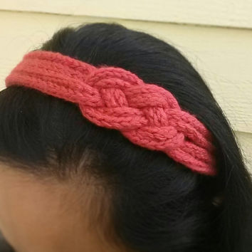 Simple Hand Knit  I-Cord NAUTICAL Knot Headband (One Size fits Child and Adult) Choose from a Variety of Colors
