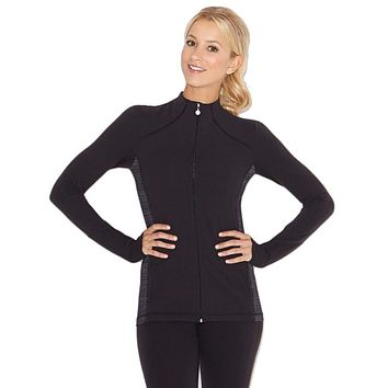 Inner Calm Mock Neck Jacket in Black by Beyond Yoga - FINAL SALE