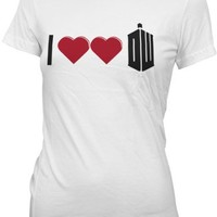 Ripple Junction Doctor Who I Double Heart Doctor Who Junior T-shirt