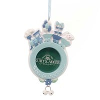 Personalized Ornament Baby's 1St Train Photo Frame Resin Ornament