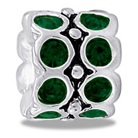 DaVinci Beads May CZ Wheel Emerald Jewelry